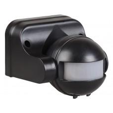 Датчик движения ИК настенный 1100Вт 180гр. 12м. IP44 черный (IEK) ДД 009