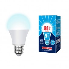 Volpe Лампа светодиодная, матовая LED-A65-20W/NW/E27/FR/NR 4000k белый свет Серия Norma