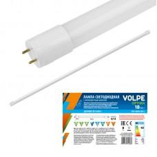 Volpe Лампа светодиодная, матовая LED-T8-18W/DW/G13/FR/FIX/O Дневной свет G13 . Серия Optima