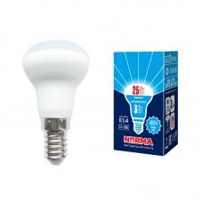 Volpe Лампа светодиодная, матовая LED-R39-3W/4000K/E14/FR/NR 4000k белый свет. Серия Norma