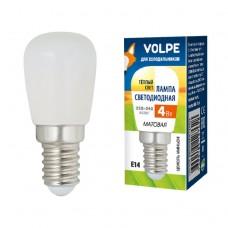 Volpe Лампа светодиодная для холодильников, мат. LED-Y25-4W/3000K/E14/FR/Z тепл. белый свет.